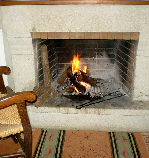 relaxed hour in front of the fireplace